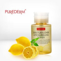 Тонер-пилинг Purederm Skin Turn-Over Lemon Peeling Toner, 170 мл.