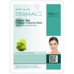 Маска коллагеновая Dermal Green Tea Collagen Essence Mask, Зеленый чай