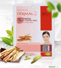 Коллагеновая маска с женьшенем Dermal Red Gingseng Collagen Essence Mask